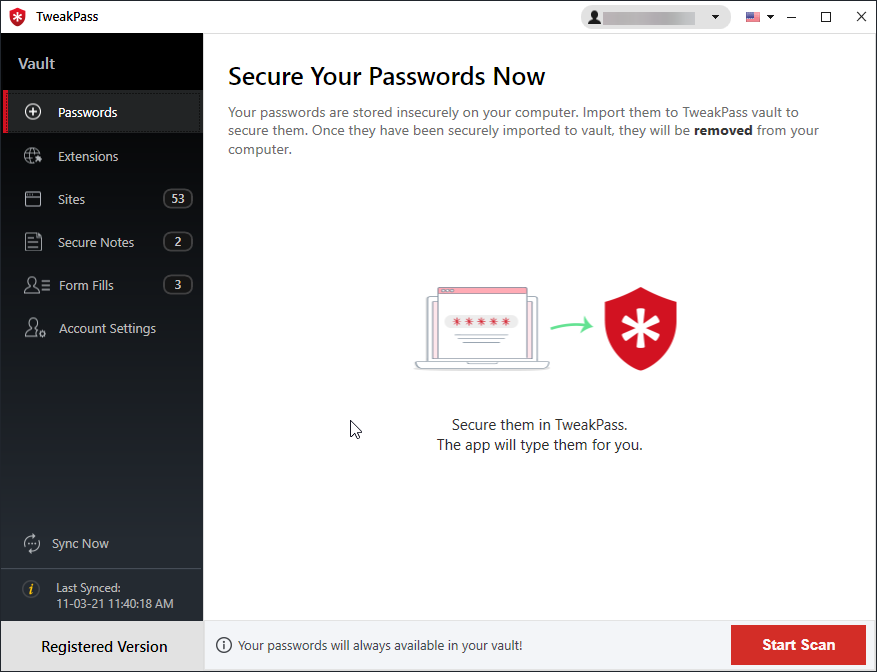 secure your password with tweakpass