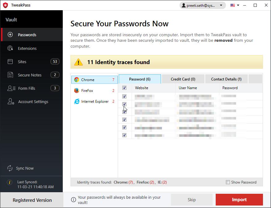 tweakpass password manager