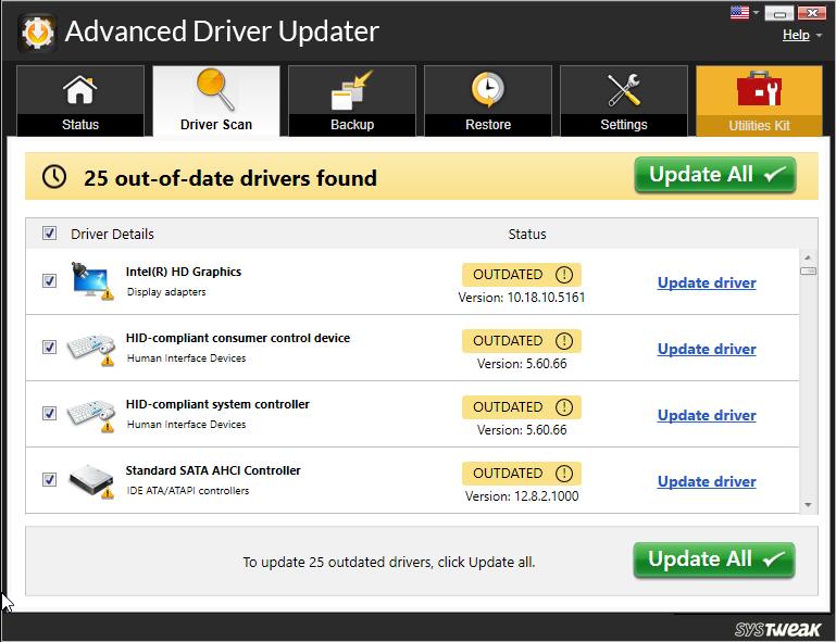 Advanced Driver Updater_update driver