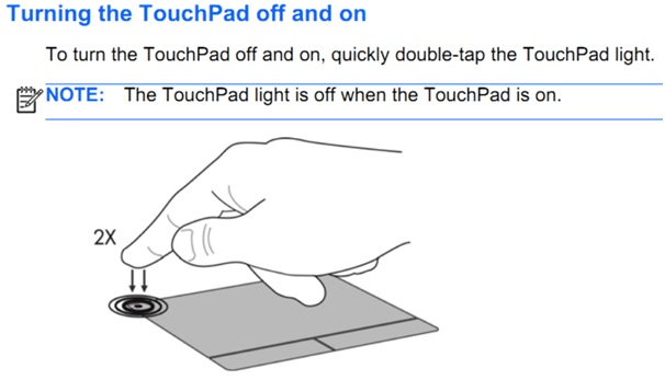 turning the touchpad off on
