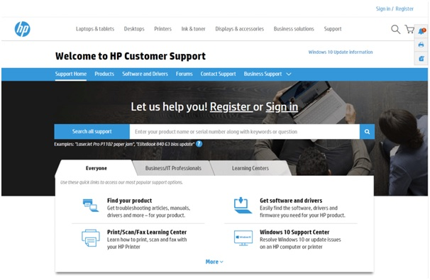 hp sustomer supprot