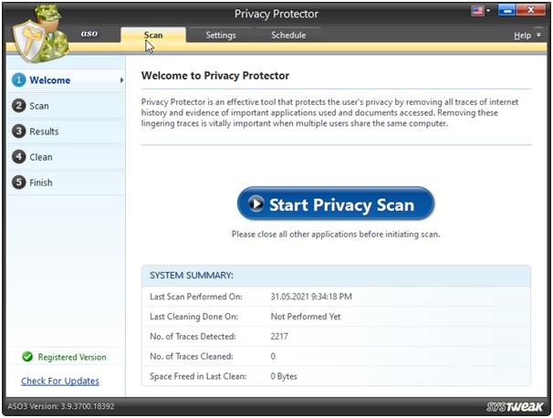 ASO start privacy
